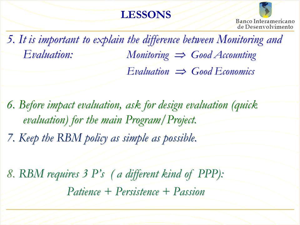Banco Interamericano de Desenvolvimento LESSONS 5.