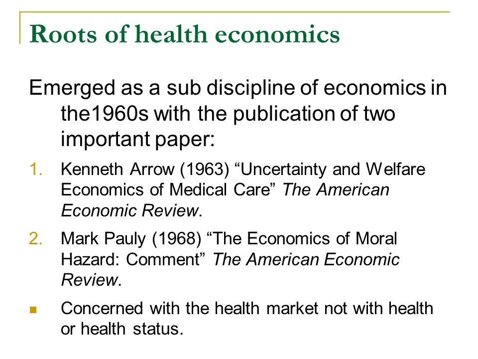 What is health economics.