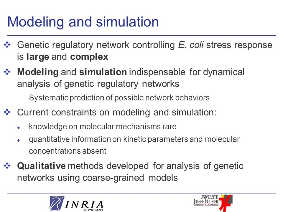 Modeling and simulation vGenetic regulatory network controlling E.