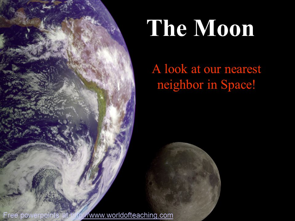 Far Side of the Moon First seen by Luna 3 Russian space probe in 1959 Surface features different from near side –More craters –Very few maria –Thicker crust