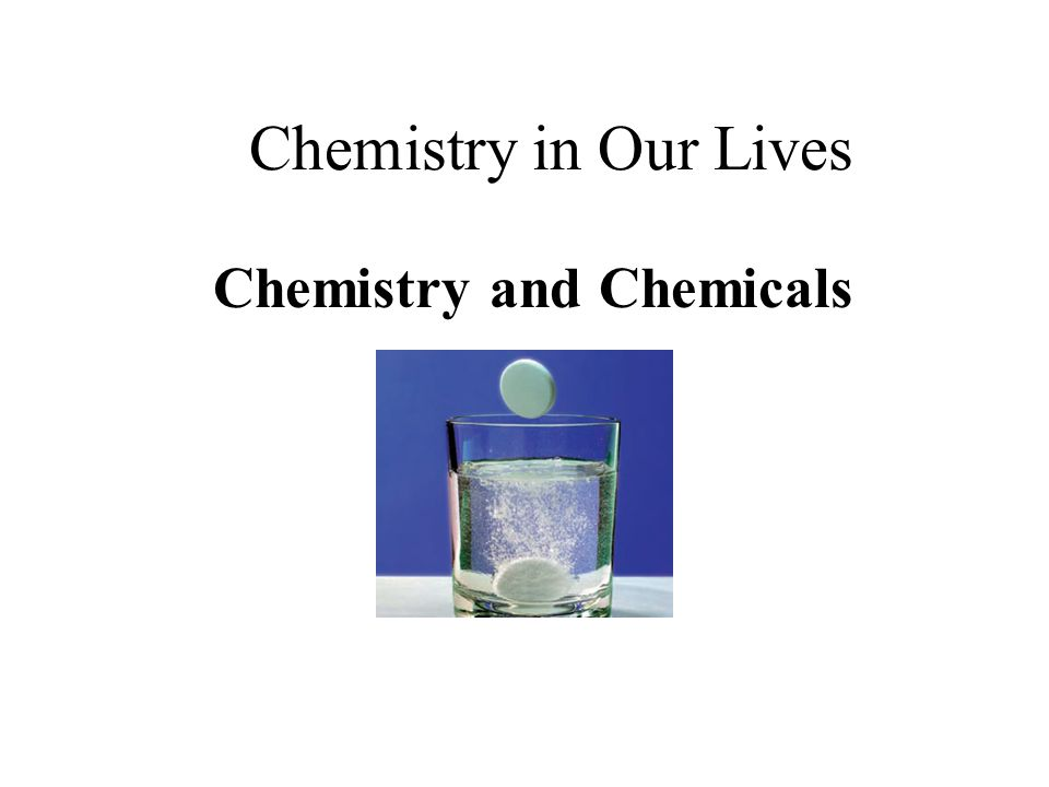 chemistry in our lives essay