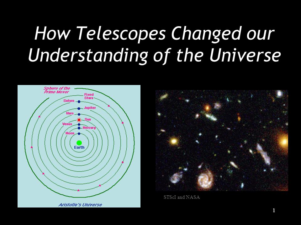 1 How Telescopes Changed our Understanding of the Universe STScI and NASA