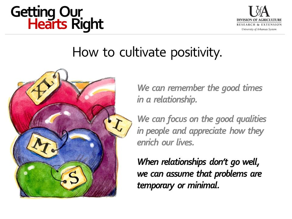 How to cultivate positivity.