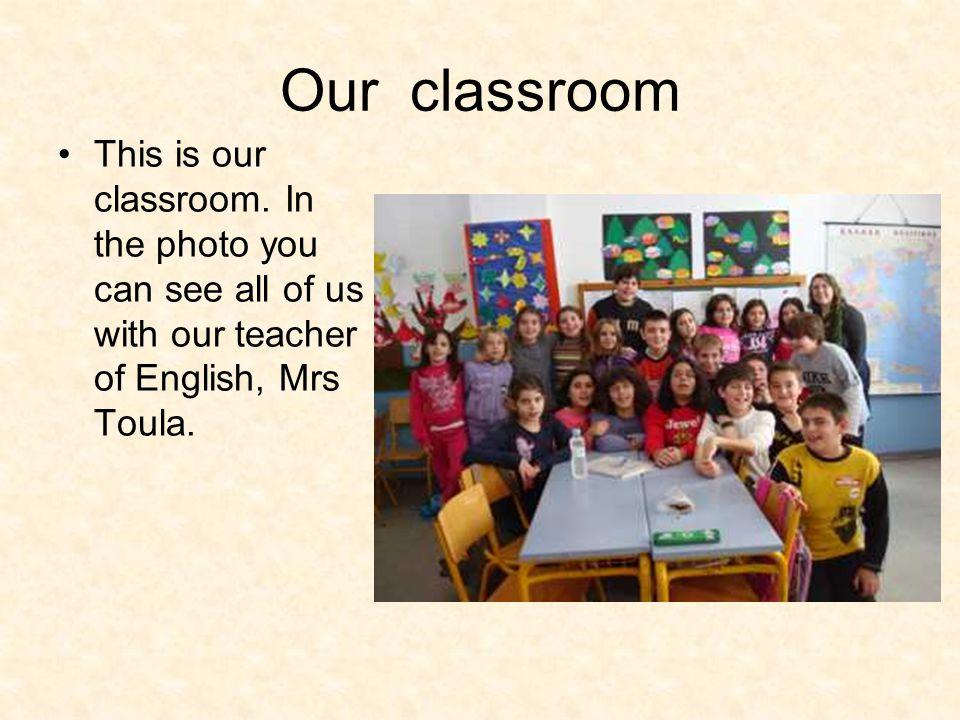 Our class Upper row from the left: Iliana, Maria, Maria, Kassandra, Altina, Anisa, Katerina, Olga.