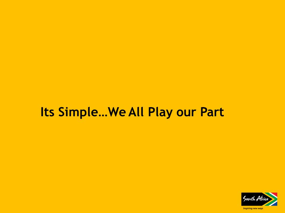 Its Simple…We All Play our Part
