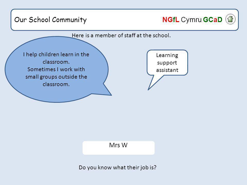 Our School Community NGfL Cymru GCaD The End Back to menu