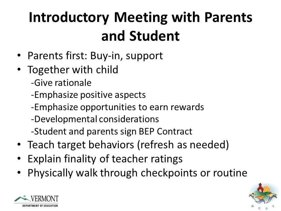 Activity # 15: Develop Student Training Guidelines: -Who will meet with the students to train them on the intervention.