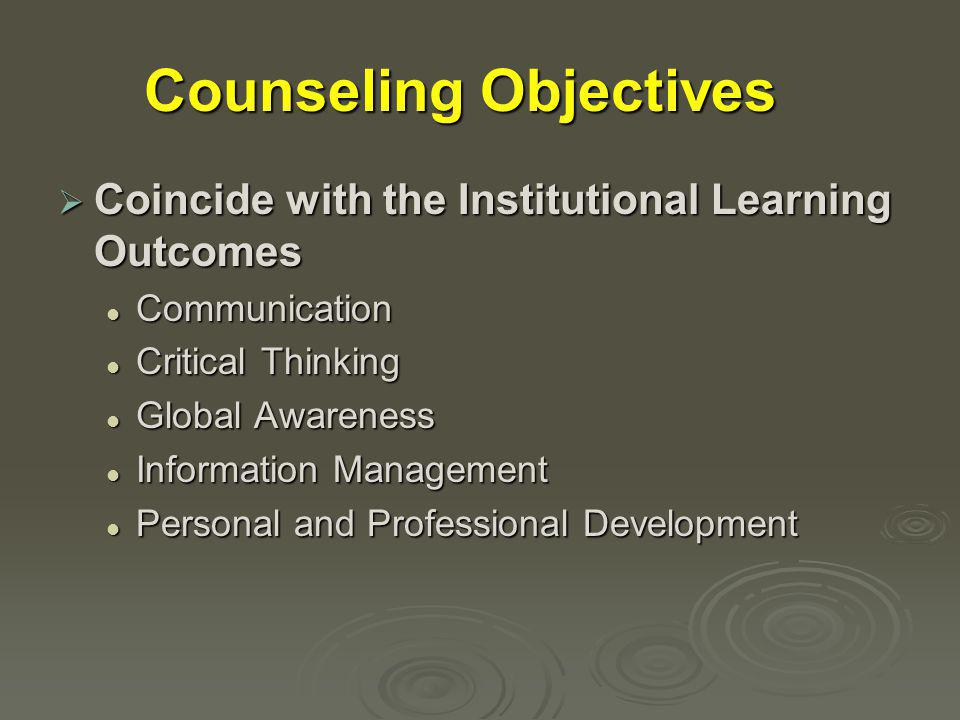 To achieve the learning outcomes: Skills students will master in the class:  Speaking in a group setting  Outlining a speech  Analyzing the speaking situation, the audience, and speaking in general Concepts: Delivery Delivery Audience analysis Audience analysis Outlining Outlining Language Language Persuasion Persuasion