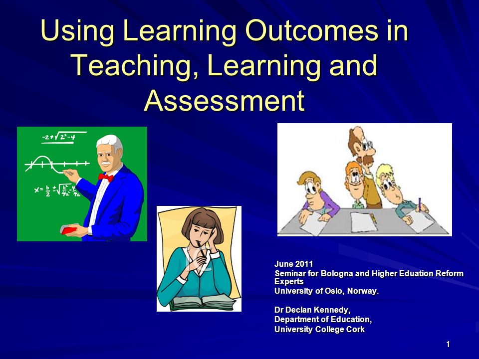 42 Further Example of Programme Learning Outcomes On successful completion of this programme, students should be able to: Perform problem solving in academic and industrial environments.