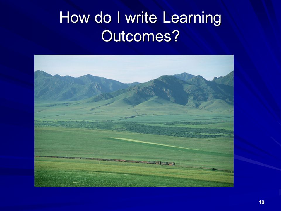 1010 How do I write Learning Outcomes?