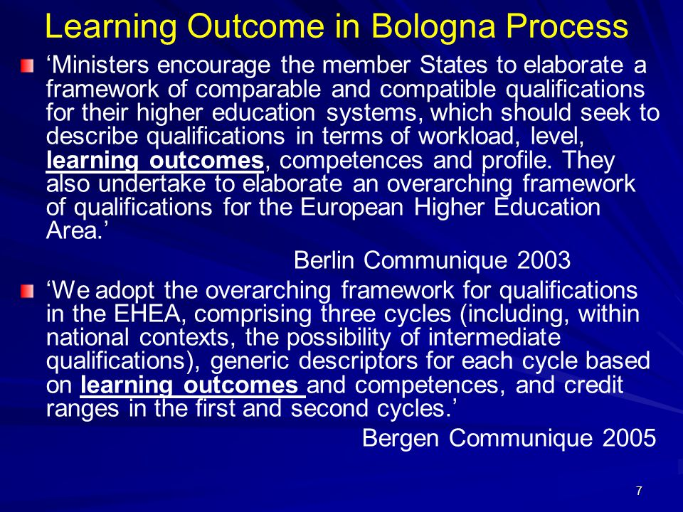 38 Writing Programme Learning Outcomes The rules for writing learning outcomes for programmes are the same as those for writing learning outcomes for modules.