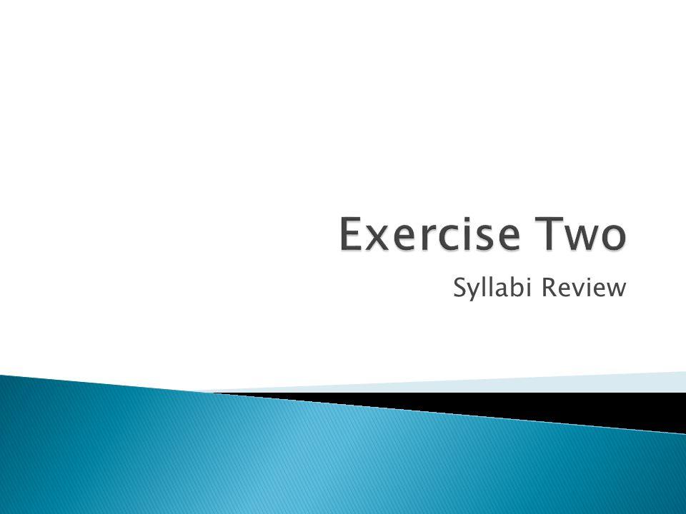 Syllabi Review