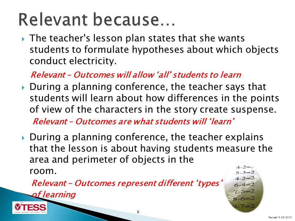  The teacher encourages his students to set their own goals; he provides them a taxonomy of challenge verbs to help them strive to meet the teacher s higher expectations of them.