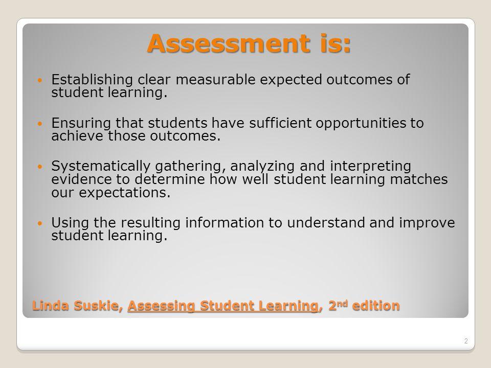 Why Do Assessment.Why Do Assessment.