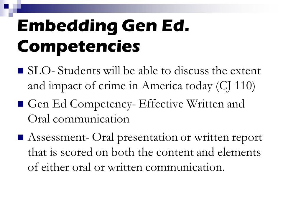 Embedding Gen Ed.