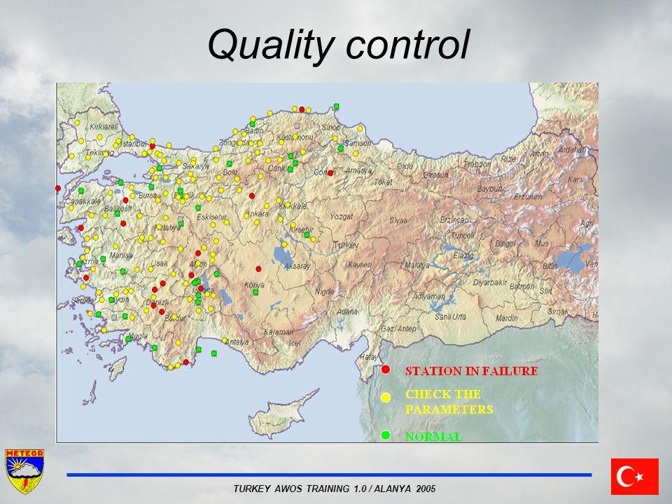 TURKEY AWOS TRAINING 1.0 / ALANYA 2005 Quality control