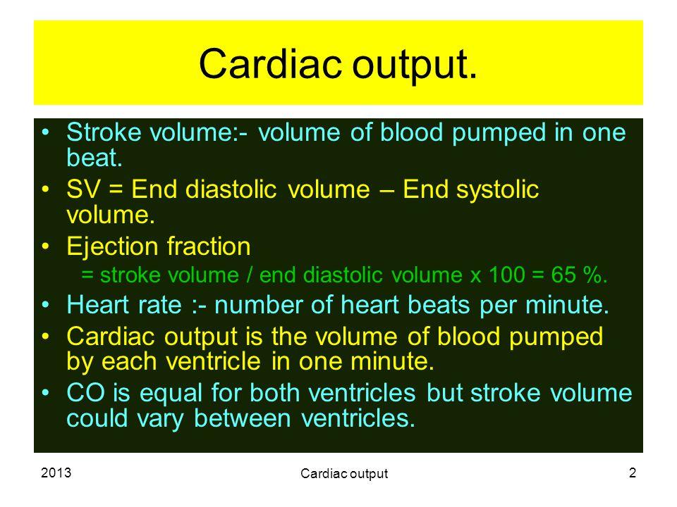 2013 Cardiac output 3 Measurement of cardiac output.