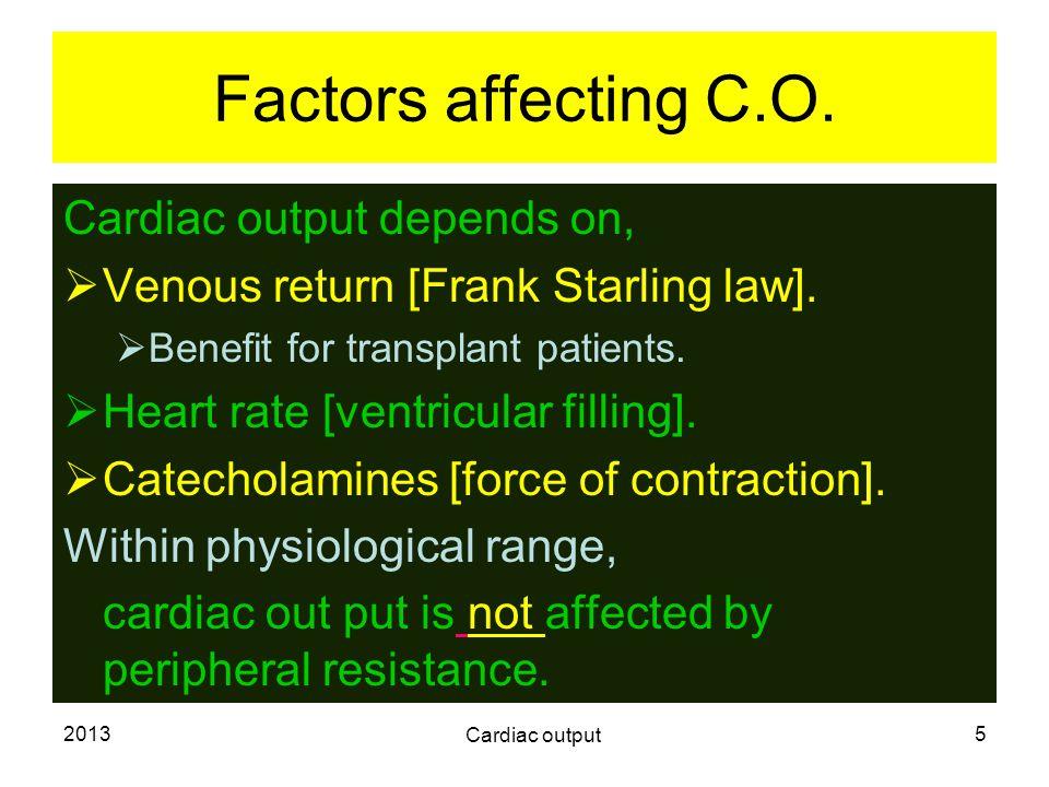 2013 Cardiac output 6 Cardiac metabolism.