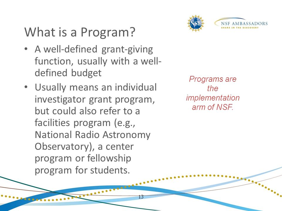 13 What is a Program.