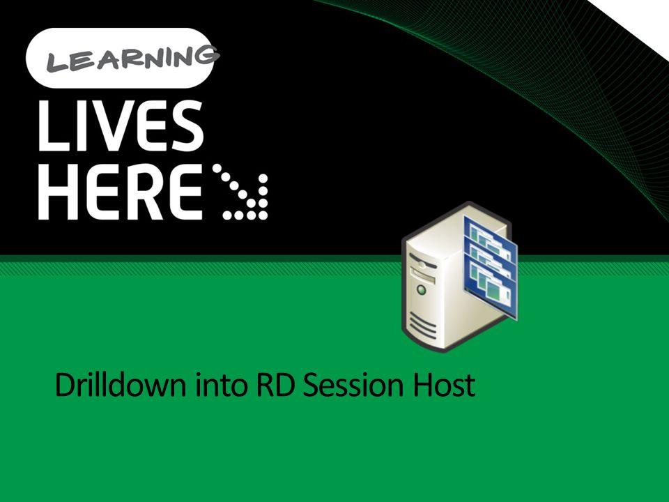 Drilldown into RD Session Host