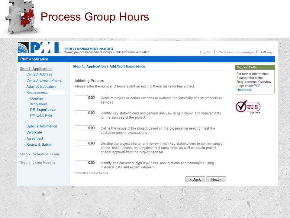 Process Group Hours