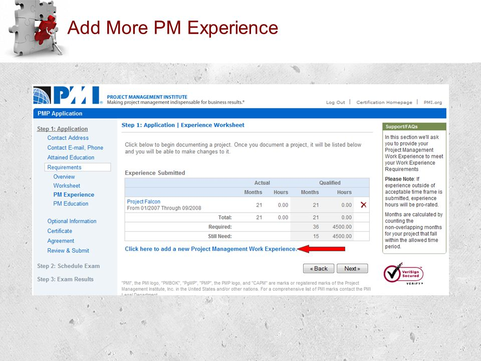 Add More PM Experience