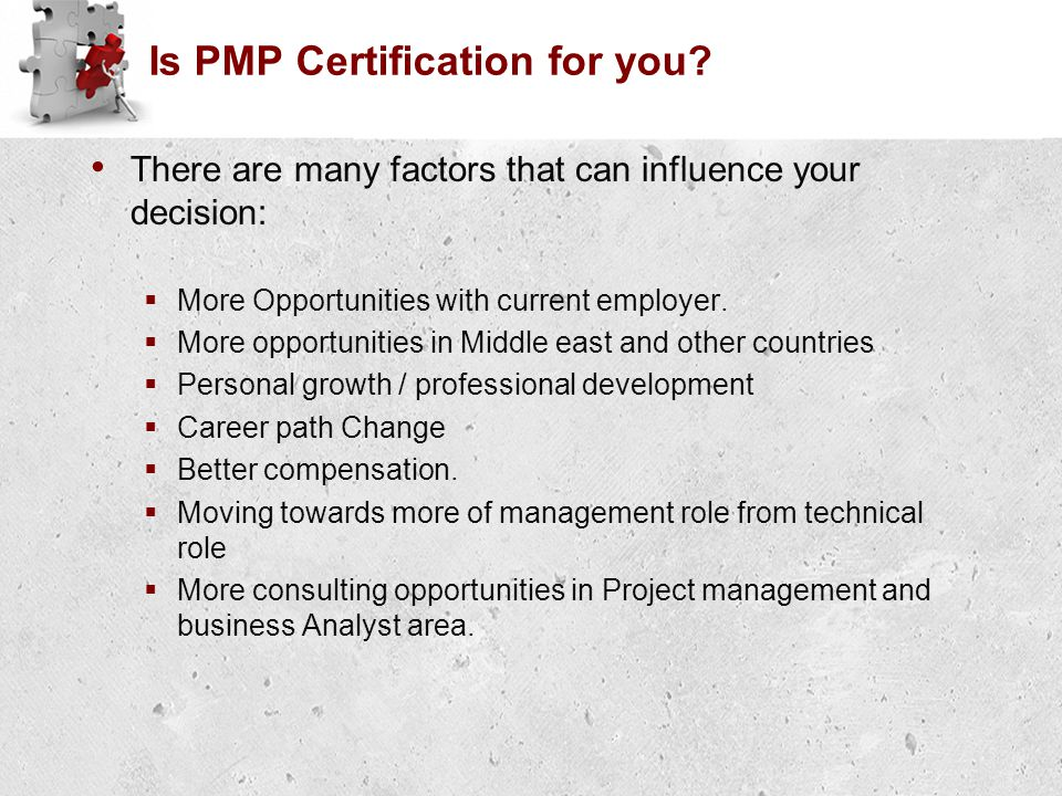 Is PMP Certification for you.