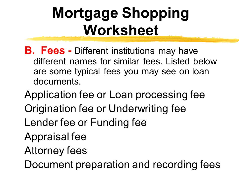B.Fees - Different institutions may have different names for similar fees.