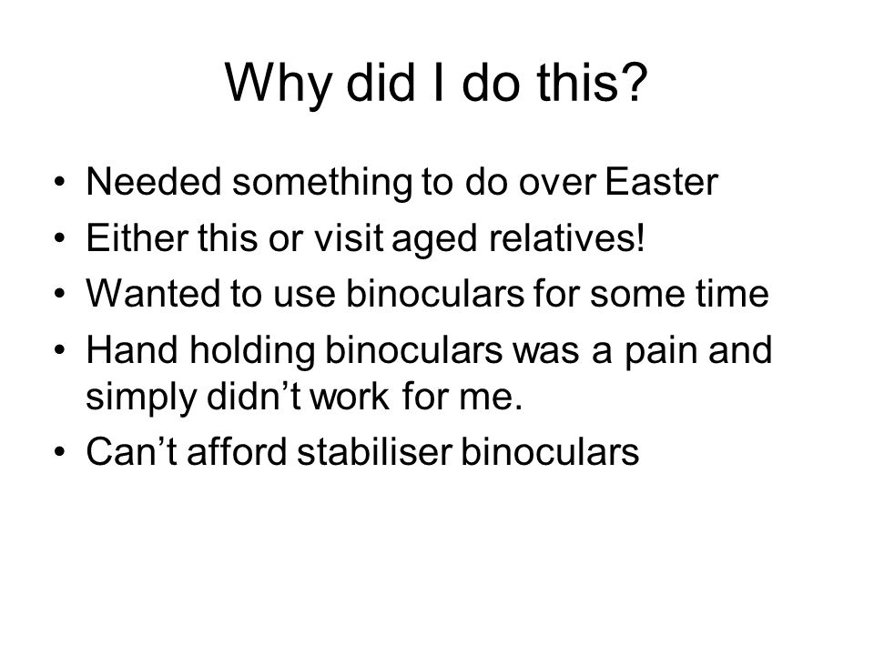 Why did I do this. Needed something to do over Easter Either this or visit aged relatives.