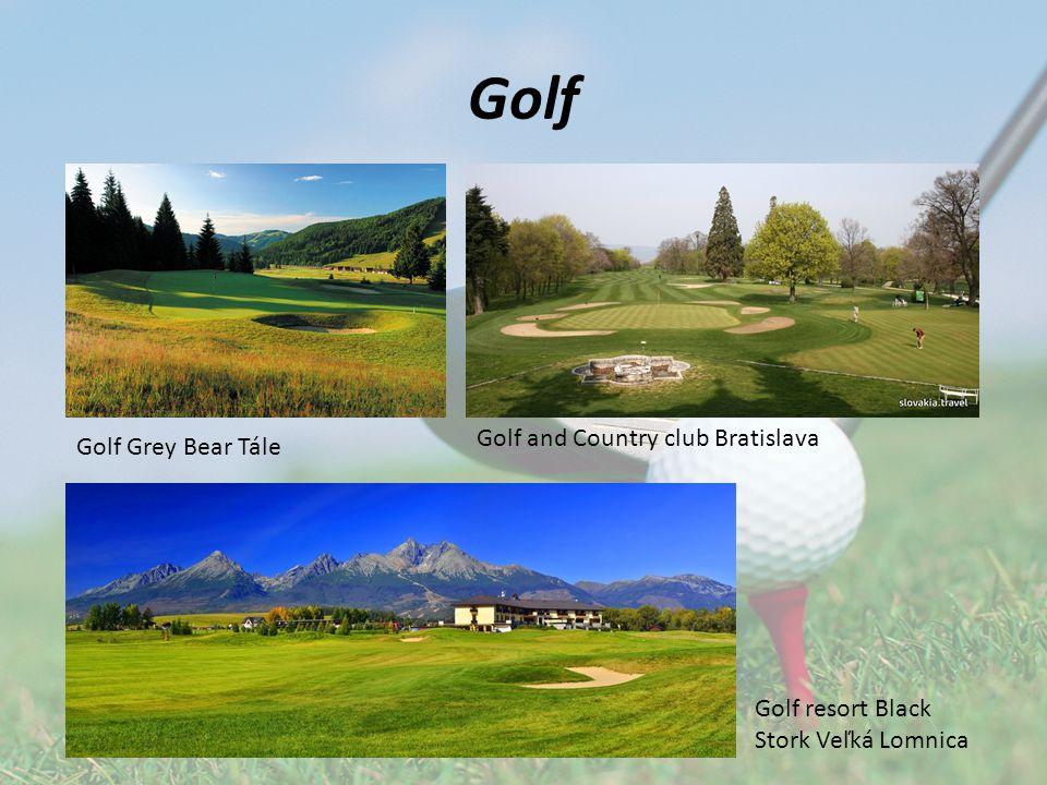 Golf Golf and Country club Bratislava Golf Grey Bear Tále Golf resort Black Stork Veľká Lomnica