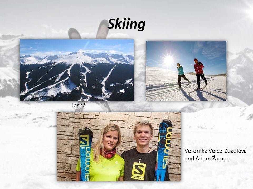 Skiing Jasná Veronika Velez-Zuzulová and Adam Žampa