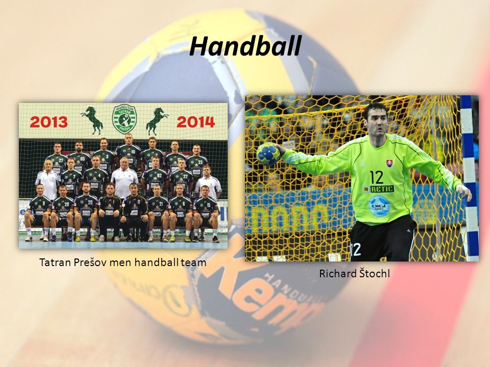 Handball Tatran Prešov men handball team Richard Štochl