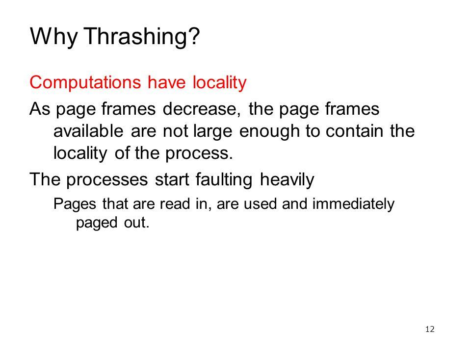 12 Why Thrashing.