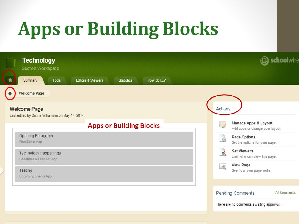Apps or Building Blocks
