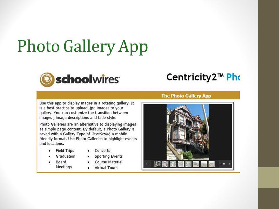 Photo Gallery App
