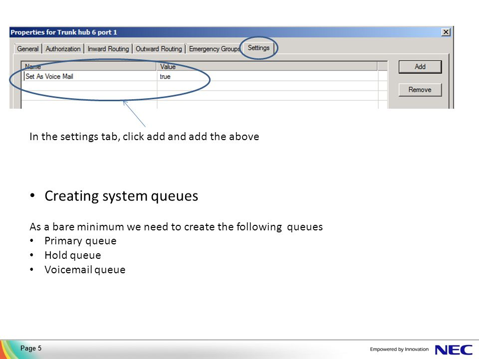 1. Click on the outward routing tab 2. Click to add extension 3. Click New Extension Page 6
