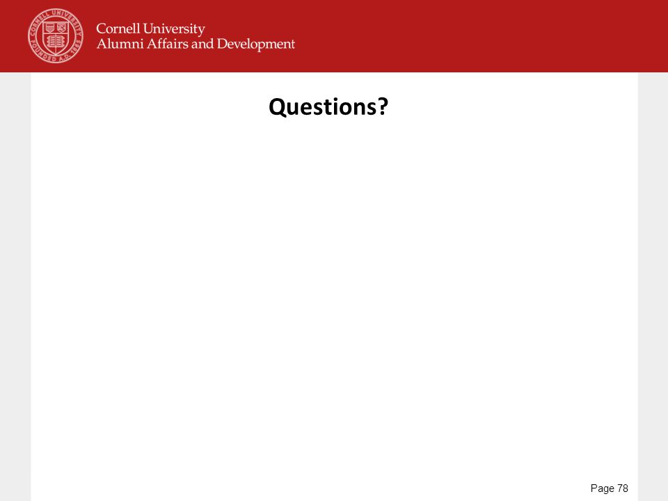 Questions? Page 78