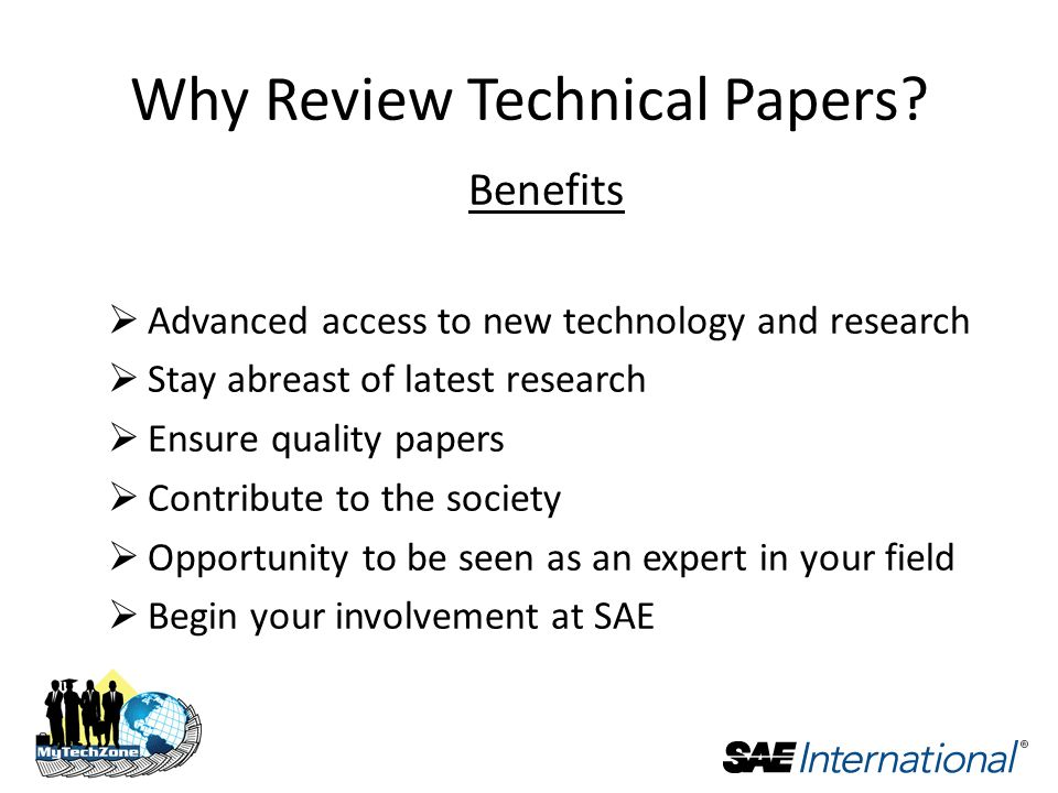 Why Review Technical Papers.