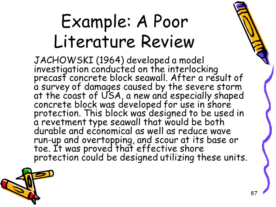 How To Write A Literature Review Sample