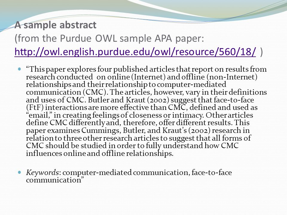 owl purdue apa essay Purdue: owl is a free online writing lab that helps users around the world find information to assist them with many writing projects information available on purdue: owl includes the site's history, rules for grammar and punctuation, and mla and apa format.