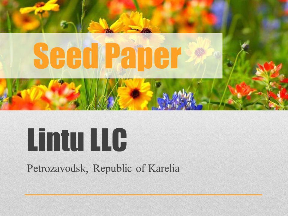 Lintu LLC Petrozavodsk, Republic of Karelia Seed Paper