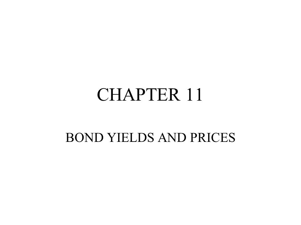 Pricing of Bonds Where YTM is the yield to maturity of the bond and T is the number of years until maturity (assuming that coupons are paid annually) given the yield, the price can be calculated given the price, the yield can be calculated the yield to maturity represents the return an investor would earn if they bought the bond for the market price and held it until maturity (with no reinvestment risk – see later)