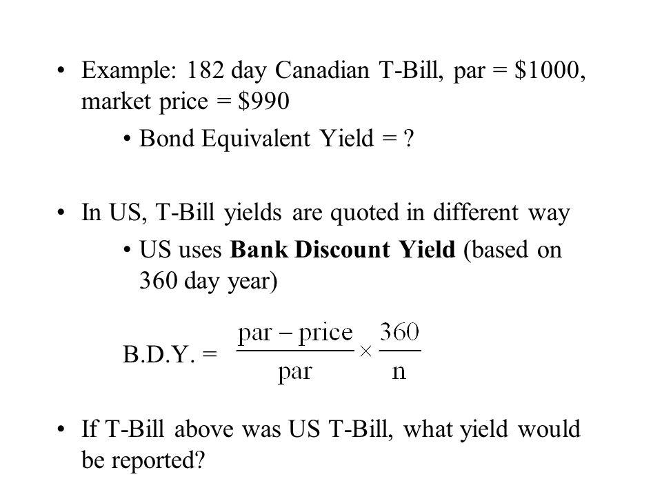 Effective Duration Third common way to calculate duration: effective duration For a chosen change in yield, Δy, the effective duration is: