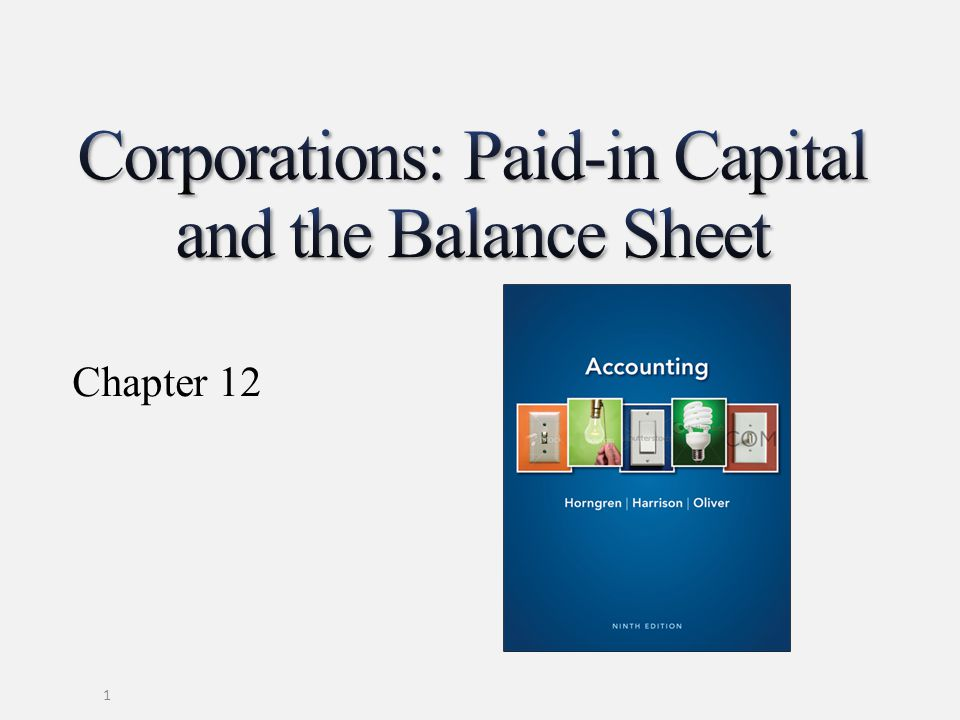 No-par stock No Paid-in capital in excess of par account needed Full amount received is credited to Common stock Balance sheet shows only the Common stock account 12