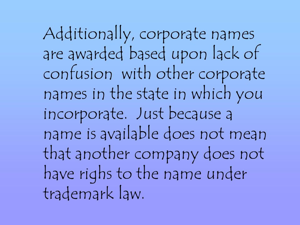 In forming a corporation, we will file Articles of Incorporation in the jurisdiction in which you are incorporating.