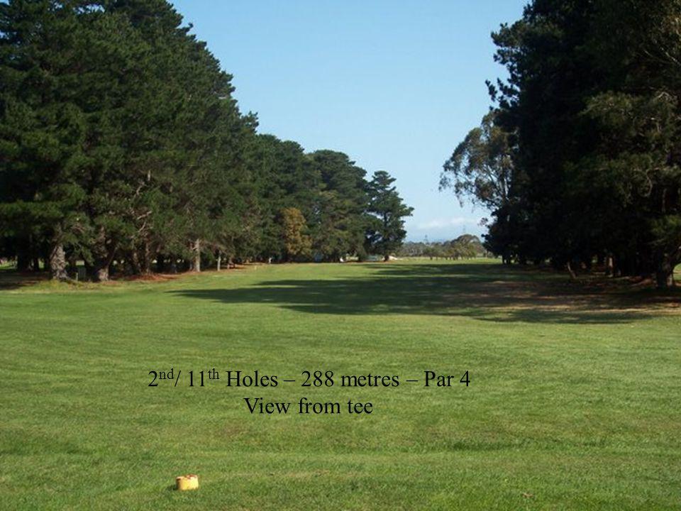 6 th Hole – 132 metre – Par 3 15 th Hole – 142 metre – Par 3 View from tee