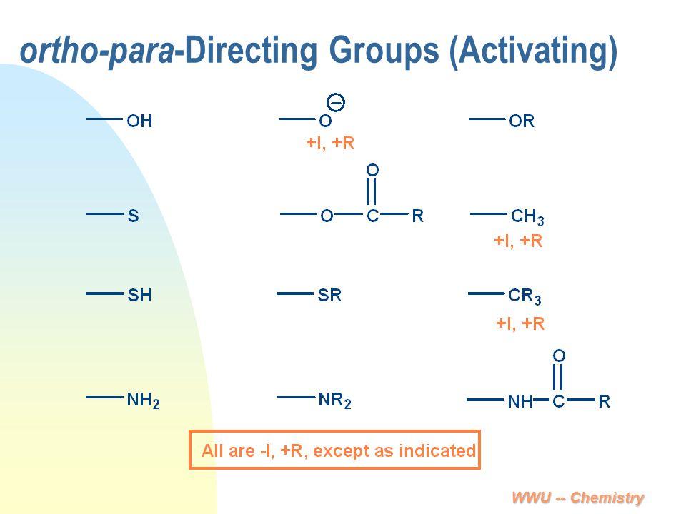 WWU -- Chemistry ortho-para -Directing Groups (Activating)