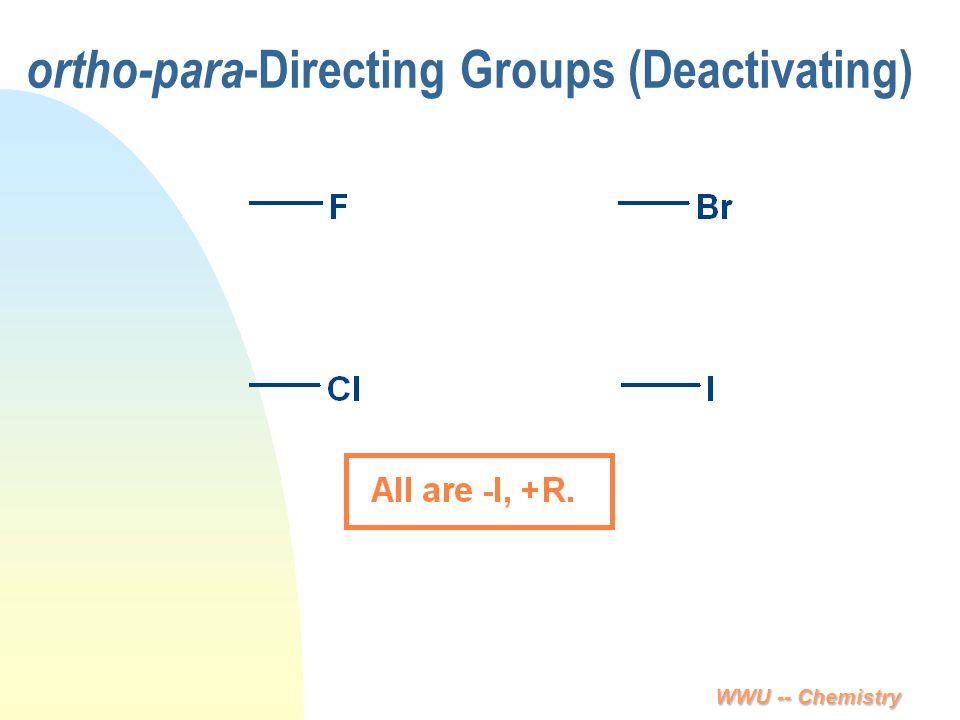 WWU -- Chemistry ortho-para -Directing Groups (Deactivating)