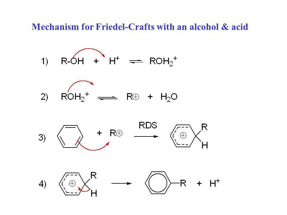 Mechanism for Friedel-Crafts alkylation: