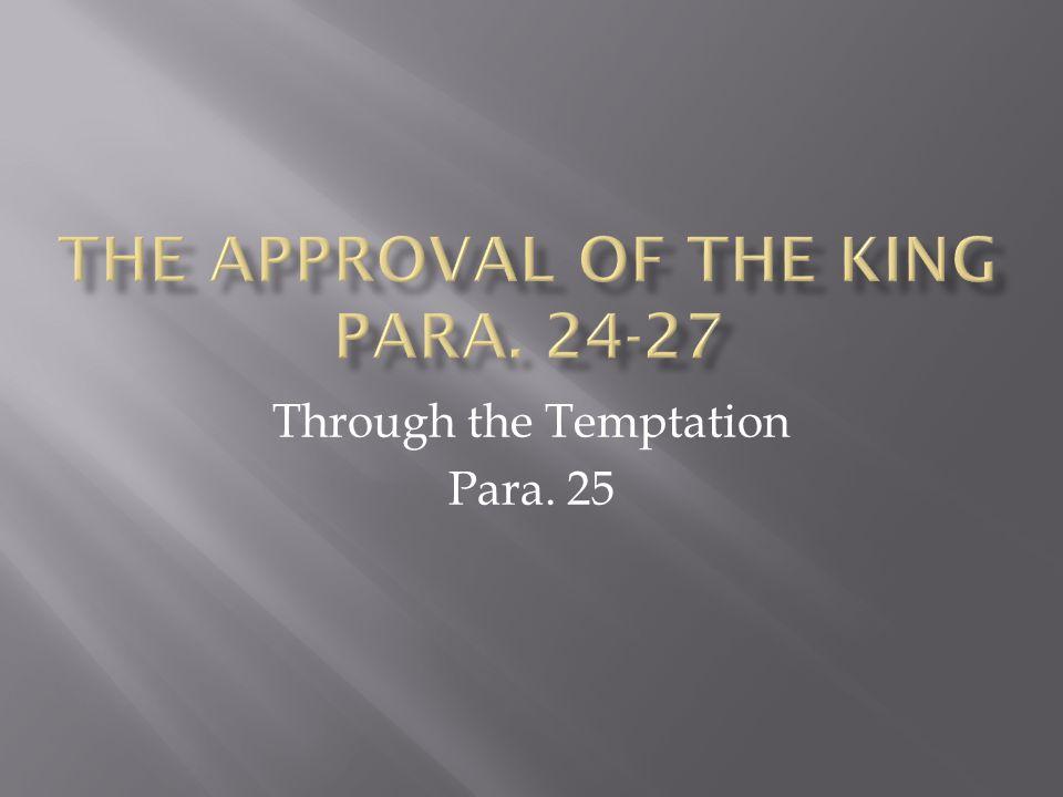Through the Temptation Para. 25